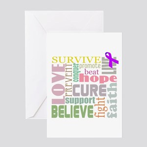 Alzheimer's Inspirational Words Greeting Card