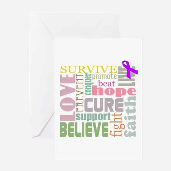 Alzheimer's Inspirational Words Greeting Card