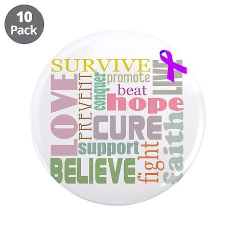"Alzheimers - Promte & Inspire 3.5"" Button"