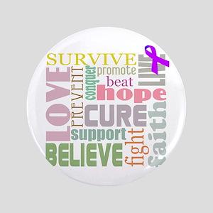 """Alzheimer's Inspirational Words 3.5"""" Button"""