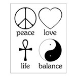 Peace Love Life Balance Small Poster