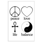 Peace Love Life Balance Large Poster