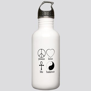 Peace Love Life Balance Stainless Water Bottle 1.0