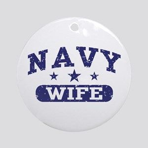 Navy Wife Ornament (Round)