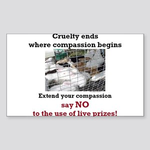 Extend your Compassion Rectangle Sticker