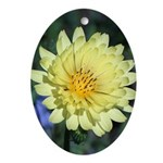 Yellow Wildflower Oval Ornament