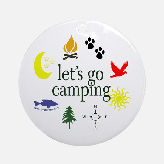 Let's go camping! Ornament (Round)