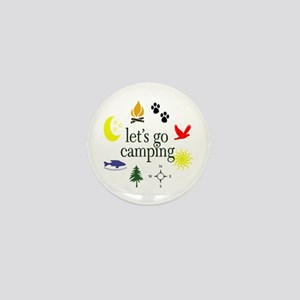 Let's go camping! Mini Button