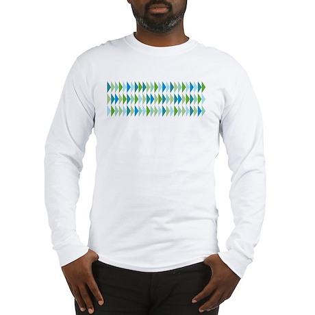 Retro Triangle Pattern Long Sleeve T-Shirt
