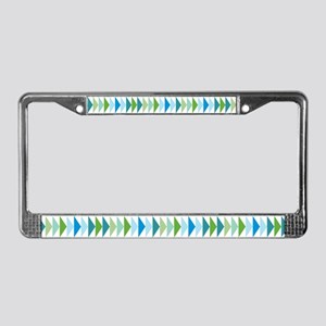 Retro Triangle Pattern License Plate Frame