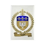 LAGACE Family Crest Rectangle Magnet (10 pack)