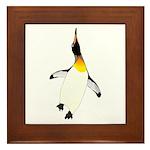 Dancing King Penguin Framed Tile