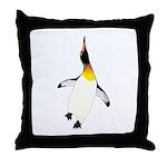 Dancing King Penguin Throw Pillow