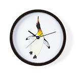 Dancing King Penguin Wall Clock