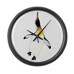 Dancing King Penguin Large Wall Clock