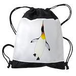 Dancing King Penguin Drawstring Bag