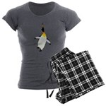 Dancing King Penguin Women's Charcoal Pajamas