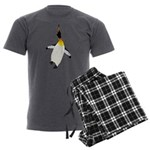 Dancing King Penguin Men's Charcoal Pajamas