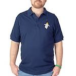 Dancing King Penguin Dark Polo Shirt