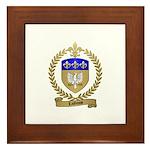 LAGASSE Family Crest Framed Tile