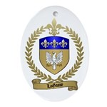 LAGASSE Family Crest Oval Ornament