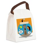 Fishbowl Vampire Castle Canvas Lunch Bag