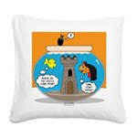 Fishbowl Vampire Castle Square Canvas Pillow