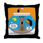 Fishbowl Vampire Castle Throw Pillow