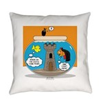 Fishbowl Vampire Castle Everyday Pillow