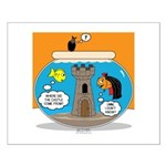 Fishbowl Vampire Castle Small Poster