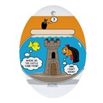 Fishbowl Vampire Castle Oval Ornament