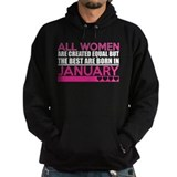 All women 2c january Dark Hoodies