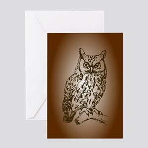Brown Owl Greeting Cards