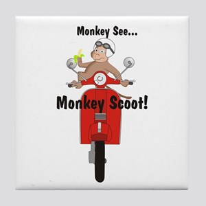 Monkey See... Tile Coaster