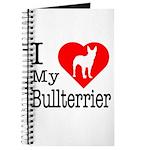 I Love My Bullterrier Journal