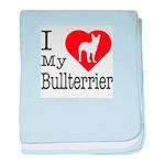 I Love My Bullterrier Infant Blanket