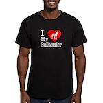 I Love My Bullterrier Men's Fitted T-Shirt (dark)