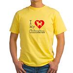 I Love My Chihuahua Yellow T-Shirt