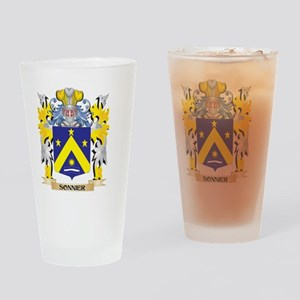 Sonnier Family Crest - Coat of Arms Drinking Glass