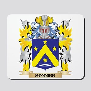 Sonnier Family Crest - Coat of Arms Mousepad