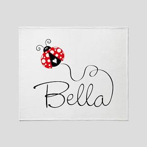 Ladybug Bella Throw Blanket