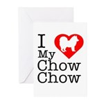 I Love My Chow Chow Greeting Cards (Pk of 20)
