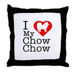 I Love My Chow Chow Throw Pillow