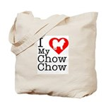 I Love My Chow Chow Tote Bag