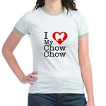 I Love My Chow Chow Jr. Ringer T-Shirt