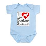I Love My Cocker Spaniel Infant Bodysuit