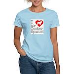 I Love My Cocker Spaniel Women's Light T-Shirt