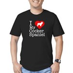 I Love My Cocker Spaniel Men's Fitted T-Shirt (dar