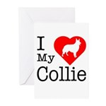 I Love My Collie Greeting Cards (Pk of 20)