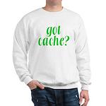 Got Cache? - Green Sweatshirt